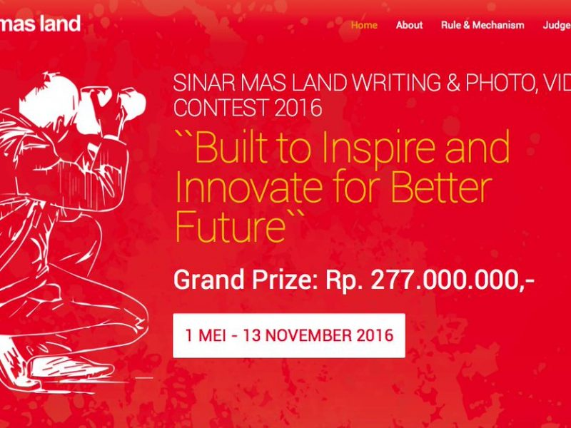 public relations, Sinar Mas Land Kembali Hadirkan Kompetisi SML Writing, Photo and Video Contest 2016, Tantangan Berhadiah Total 277 Juta Rupiah bagi Jurnalis dan Publik-Public Relations and Communications Business Portal News Indonesia