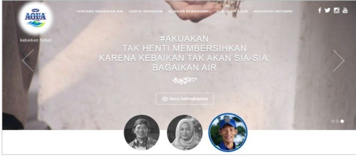"public relations, Strategi Branding Aqua dengan Kanal Digital: Website Interaktif ""Bagaikan Air""-Public Relations Portal and Communications Business News Indonesia"